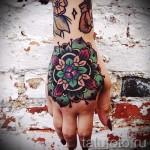 тату цветы на руке для девушек - фото вариант от 21122015 № 5