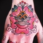 тату цветы на руке - фото вариант от 21122015 № 10