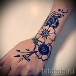 тату цветы на руке - фото вариант от 21122015 № 11