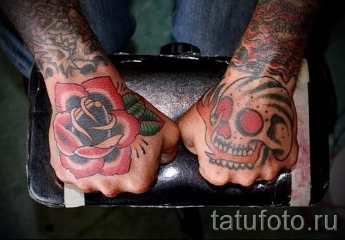тату цветы на руке - фото вариант от 21122015 № 14