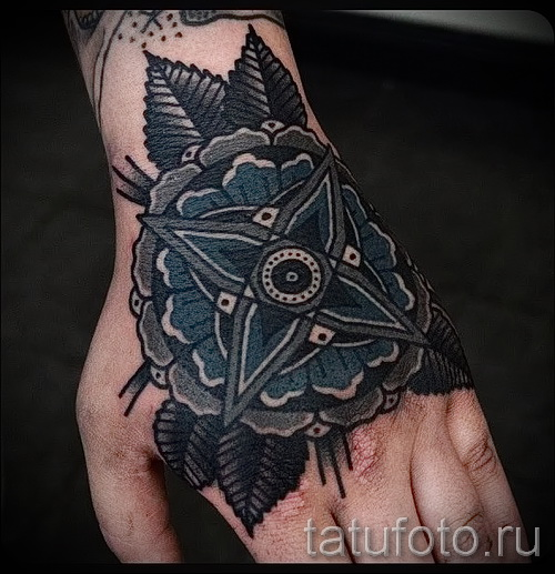 тату цветы на руке - фото вариант от 21122015 № 17