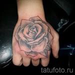 тату цветы на руке - фото вариант от 21122015 № 4