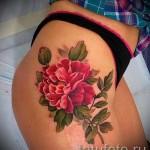 тату цветы пионы - фото вариант от 21122015 № 2