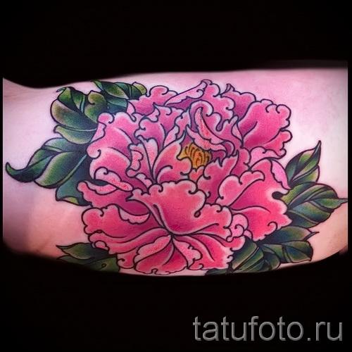 тату цветы пионы - фото вариант от 21122015 № 5