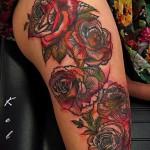 тату цветы цветные 4