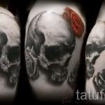 тату череп с розами - фото вариант от 15122015 № 30