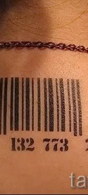 тату штрих-код – фото пример 08122015 № 11