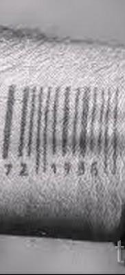тату штрих-код – фото пример 08122015 № 12