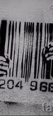 тату штрих-код – фото пример 08122015 № 13