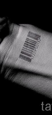 тату штрих-код – фото пример 08122015 № 23