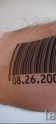 тату штрих-код – фото пример 08122015 № 25