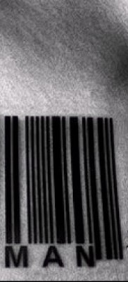 тату штрих-код – фото пример 08122015 № 3