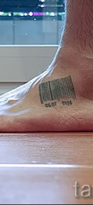 тату штрих-код – фото пример 08122015 № 37