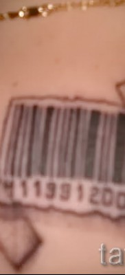 тату штрих-код – фото пример 08122015 № 44