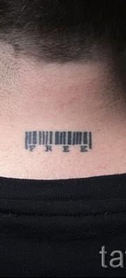 тату штрих-код – фото пример 08122015 № 45