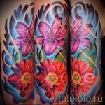 тату экзотические цветы - фото вариант от 21122015 № 1