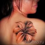 тату 3д цветы - фото вариант от 21122015 № 1