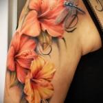 тату 3д цветы - фото вариант от 21122015 № 2