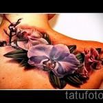 тату 3д цветы - фото вариант от 21122015 № 4