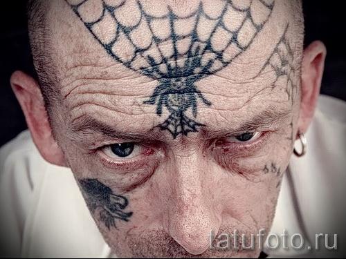тюремные тату паутина - фото готовой татуировки - 20122015 № 9