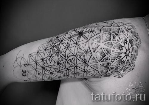 цветок жизни тату - фото вариант от 21122015 № 3