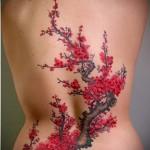 цветок сакуры тату - фото вариант от 21122015 № 4