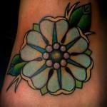 цветы олд скул тату - фото вариант от 21122015 № 2