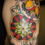 цветы олд скул тату - фото вариант от 21122015 № 5