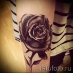 черная роза тату - фото вариант от 15122015 № 3