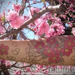 японская сакура тату - фото пример от 12122015 № 5
