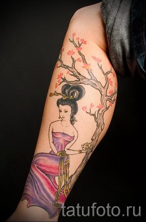 японская сакура тату - фото пример от 12122015 № 6