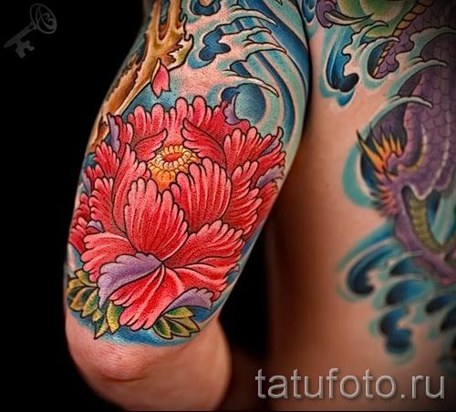 японские цветы тату - фото вариант от 21122015 № 3