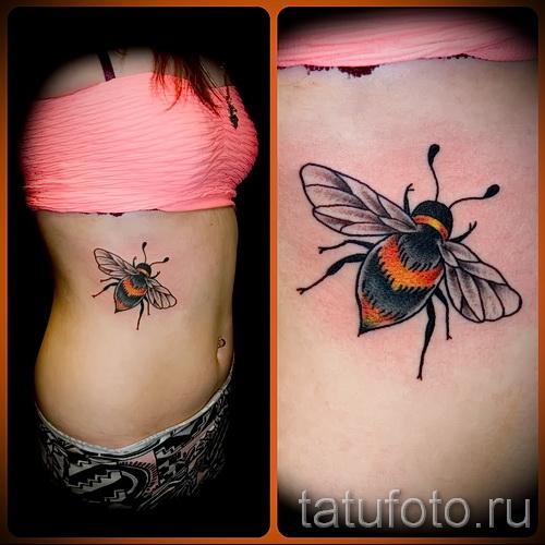 Пример тату пчелы на фото 10