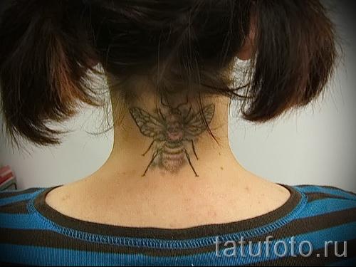 Пример тату пчелы на фото 32
