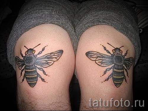 Пример тату пчелы на фото 36