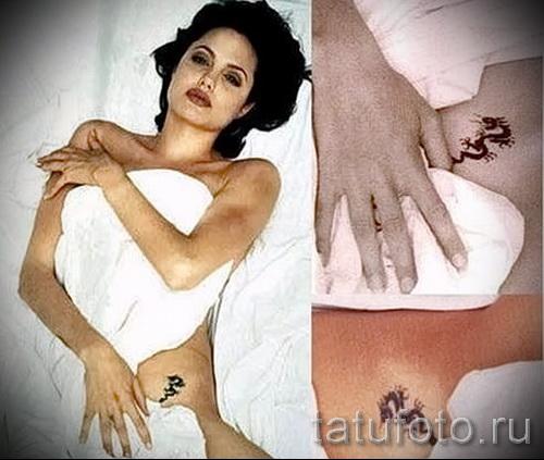 Тату Анджелины Джоли - пример на фото № 32