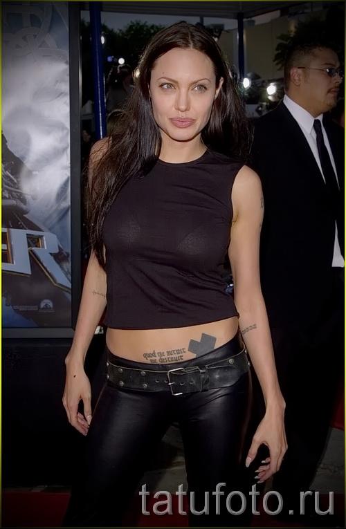 Тату Анджелины Джоли - пример на фото № 57