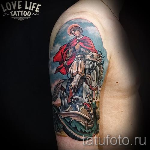 Фото тату Георгий Победоносец - 09122015 № 023