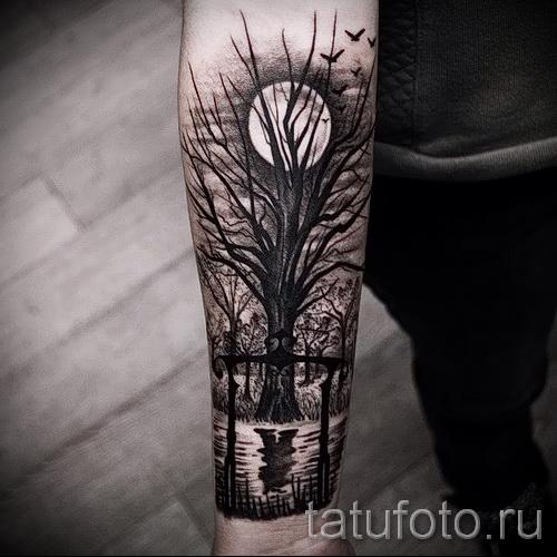 Фото тату дерево - рисункb для тату 09122015 № 015