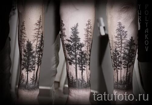 Фото тату дерево - рисункb для тату 09122015 № 044