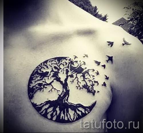 Фото тату дерево - рисункb для тату 09122015 № 150