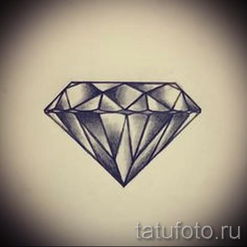 Эскизы тату алмаз - пример № 1