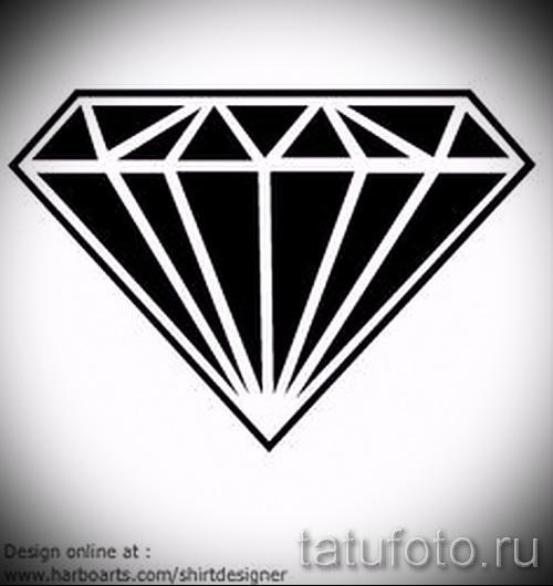 Эскизы тату алмаз - пример № 16