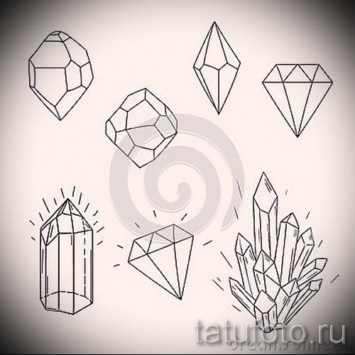 Эскизы тату алмаз - пример № 20