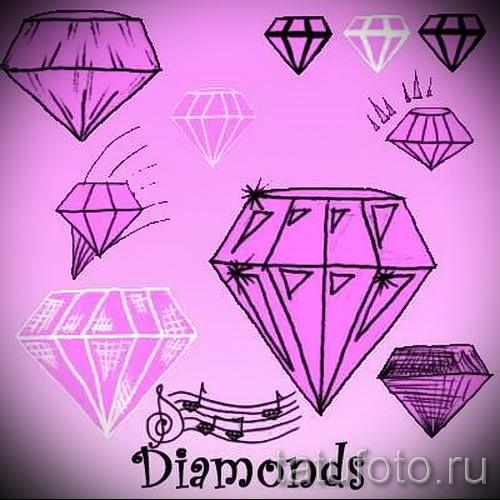 Эскизы тату алмаз - пример № 37