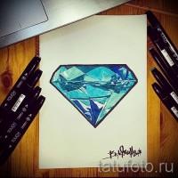 Эскизы тату алмаз