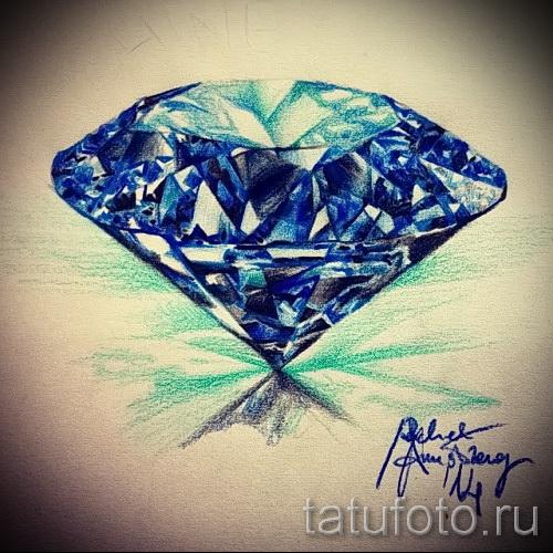 Эскизы тату алмаз - пример № 8