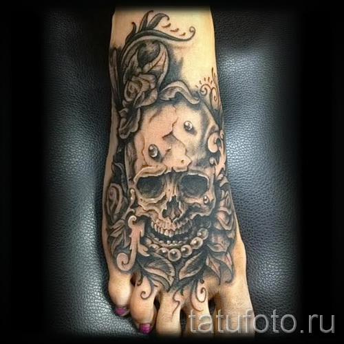 розы на ноге тату фото - фото вариант от 15122015 № 2