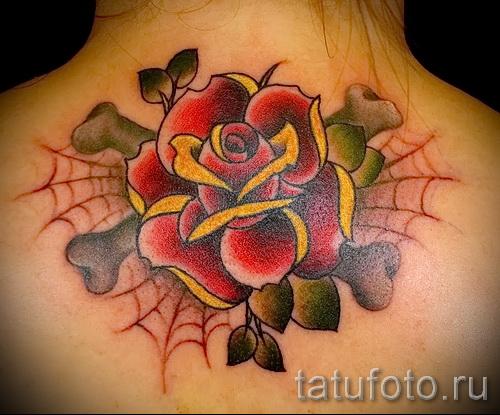 розы олд скул тату - фото вариант от 15122015 № 19