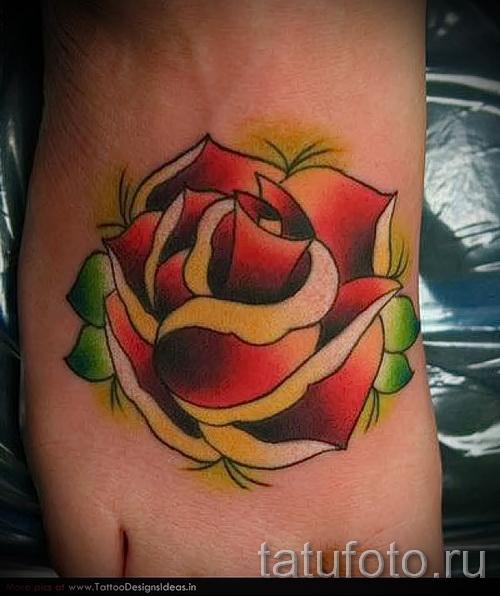 розы олд скул тату - фото вариант от 15122015 № 3